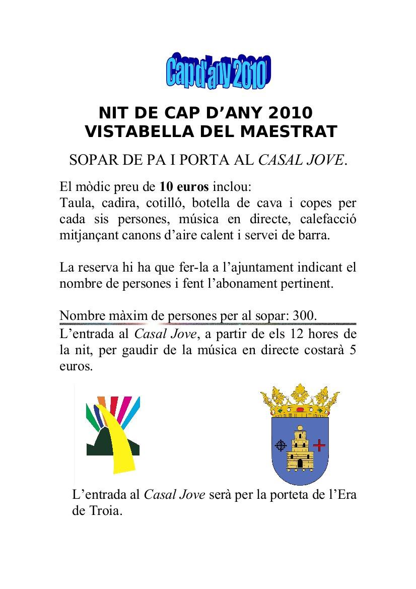 Cap d'Any 2011 a Vistabella del Maestrat