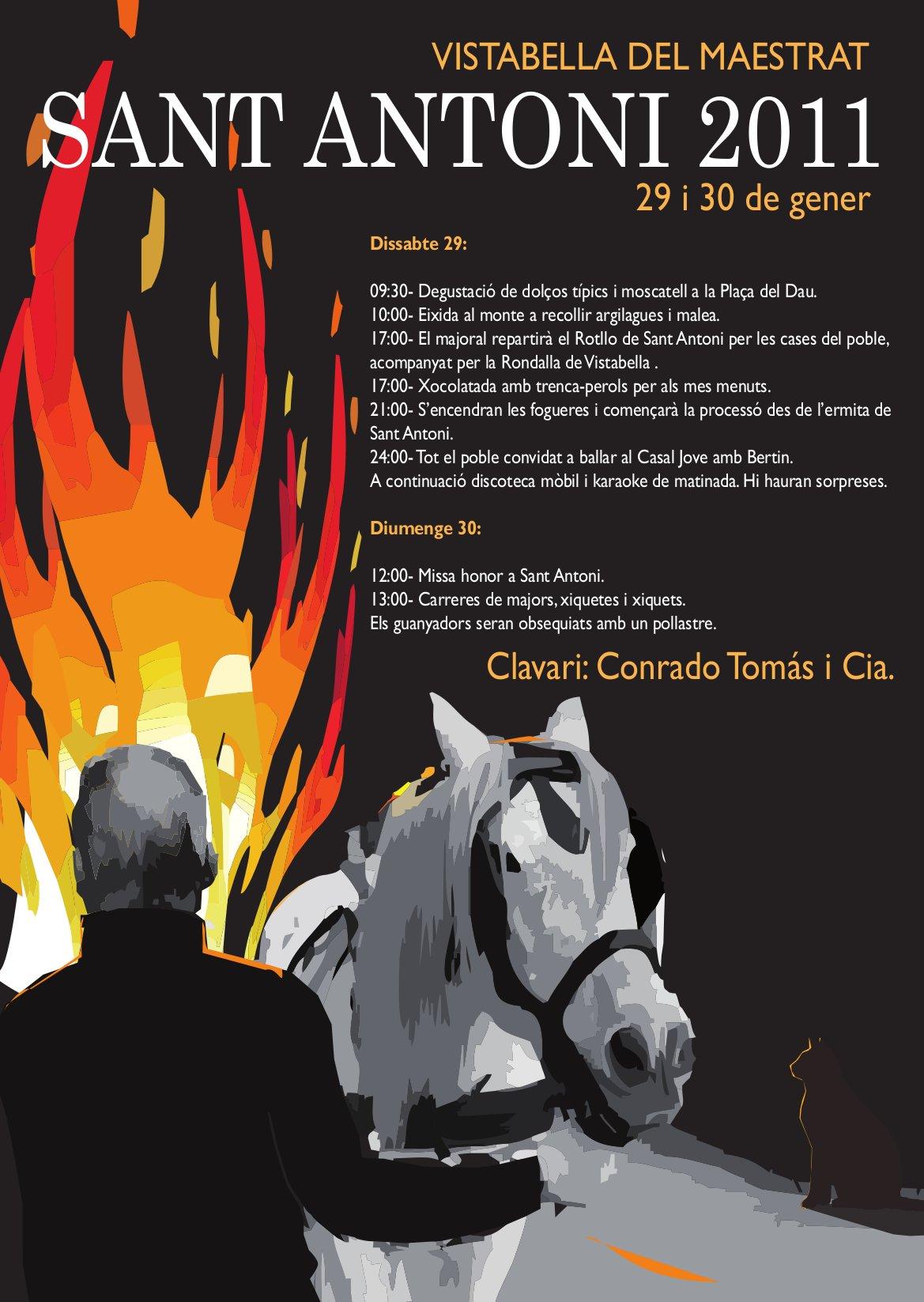 Cartell de Sant Antoni 2011 Vistabella del Maestrat